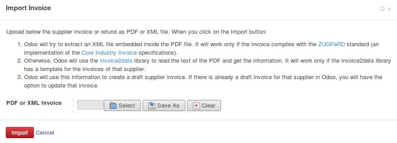 Account Invoice Import - ODOO模块网